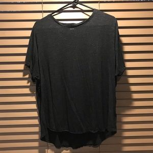 Old Navy women's XXL sparkly gray luxe t shirt
